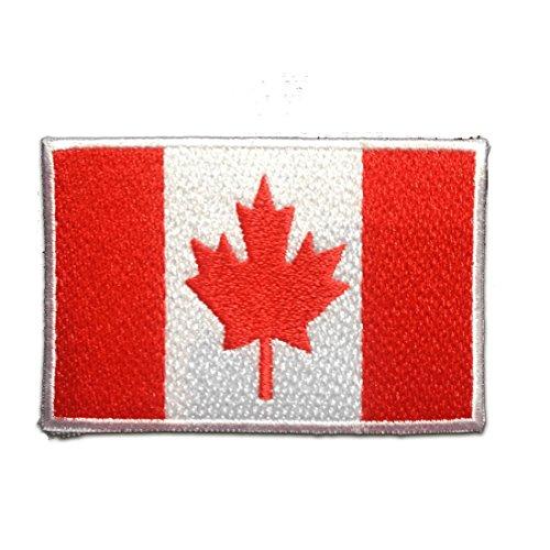 Parches - Canadá bandera - rojo - 7.4x4.9cm - termoadhesivos