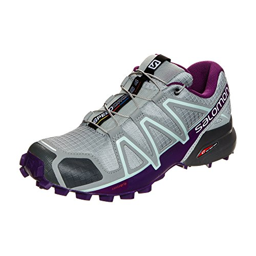 Salomon Speedcross 4 W, Chaussures de Trail Femme, Gris (Quarry/Acai/Fair Aqua) , 40 2/3 EU