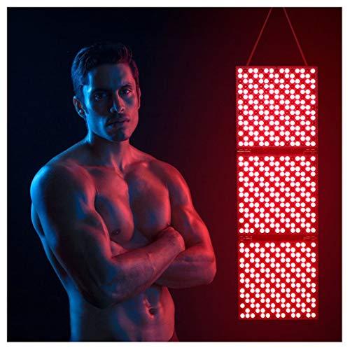 Gxnimer Panel de Terapia de luz LED roja, Dispositivo de lámpara de Color Rojo Oscuro de 660 NM e infrarrojo cercano de 850 NM para Mejorar la circulación sanguínea y la Piel