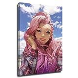 Dragon Vines League Legends Seraphine Posters Pintura Lienzo Pintura Idol Virtual Kda Virtual Girl Group Beautiful Girl Music Producer Loli 61 x 91 cm
