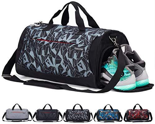 CoCoMall, Sporttasche mit Schuhfach und Nasstasche, Reisetasche für Damen und Herren L GeoGrey