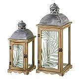 Faroles portavelas de Madera Marrones clásicos para decoración Arabia - LOLAhome