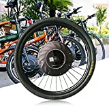 TFCFL Bicycle Motor Conversion Kit, 26-inch 36V Front Wheel Electric Bicycle Conversion Kit E-Bike Cycling Hub with Battery