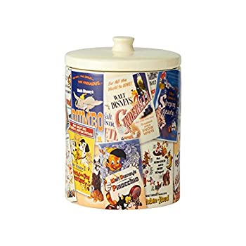 Enesco Ceramics Classic Disney Film Posters Cookie Jar Canister 9.25 Inch Multicolor