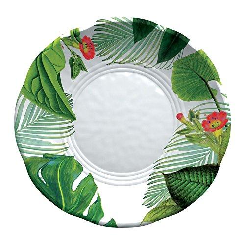 Emporio Zani Touch Mel York - Juego de 2 platos hondos con decoración floral (100% melamina)