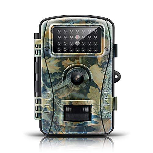 Wildkamera Fotofalle mit Bewegungsmelder, Spiel-Kameras Mit Nachtsicht-Bewegung Aktiviert IP66 Wasserdichtes 1S Triggerzeit IR-LED HD 8MP 1080P Digital-Infrarot Für Wild Lebende Tiere Überwachung