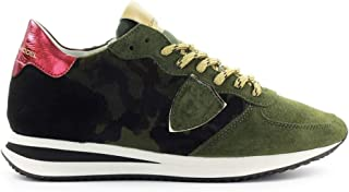 Luxury Fashion | Philippe Model Women TZLDCP01 Green Suede Sneakers | Spring-summer 20