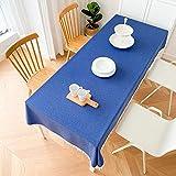 LIUJIU El mantel de vinilo El mantel de PVC puede limpiar picnic interior/exterior, barbacoas y cubiertas de mesa, 110 x 170 cm