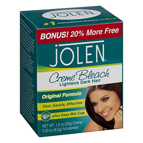 Jolen 1oz Creme Bleach Regular Lightens Excess Dark Hair (2 Pack) by Jolen