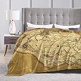 Baulerd Skyrim Worn Parchment Map Ultra-Soft Micro Fleece Blanket 80'' x60