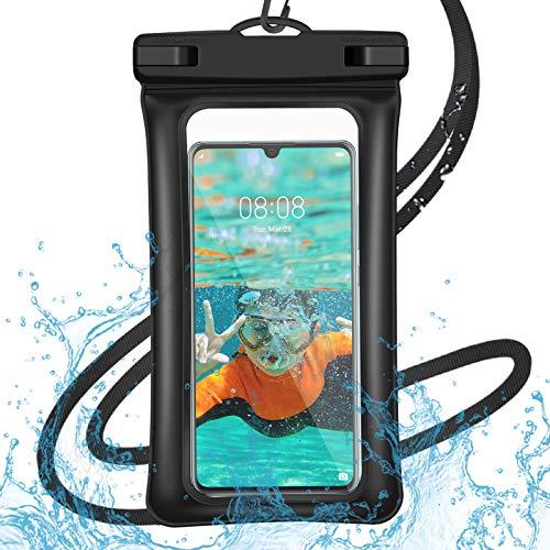 Ossky wasserdichte Handyhülle Unterwasser Wasserfeste Phone Case 6,5 Zoll, Handy Wasserschutzhülle für Schwimmen, Baden und Kochen, iPhone XS Max/iPhone SE/Galaxy S20/S10/S9, Huawei, Google etc