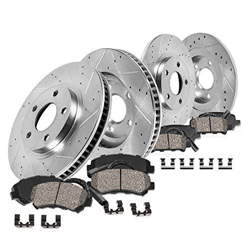 CDS02758 FRONT 307mm + REAR 279.7mm D/S 5Lug [4] Rotors + Brake Pads + Clips + Sensors [ fit Mini Cooper Countryman ]