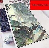 ゲーミングマウスマットラージマウスマット| 900 X 400ミリメートル| XXLマウスパッドカスタムプロフェッショナルマウスパッド、ステッチエッジ、デスクカバー、コンピュータのキーボード、PCやラップトップに最適 (Color : C)