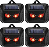 KEXMY 4 Packs Solar Powered- Animal Repellent Predator Repellent with Ultrasonic Motion Sensor Light- Effectively Scares...