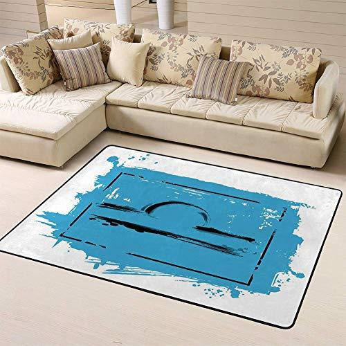 Liz Carter 63X48 inch Area Rug Backing Floor Teppich der Sternzeichen Waage Icon Astrologie