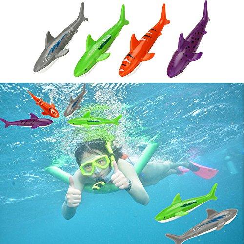 Dapei Tauchen Spielzeug, 4 Stück Tauchfische Unterwasser Tauch Pool Spielzeug, Tauchen Lernen Sommer Pool Spielzeug für Kinder