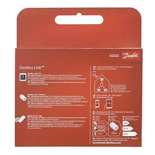 Danfoss Link Starterkit enthält 1 Zentralregler und 3 Connect Thermostate, Farbe weiß, 4 Stück, white, 014G0500 - 2