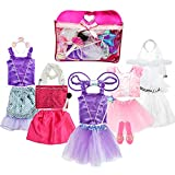 Girls Dress up Costume Set Toiijoy Princess,Fairy,Mermaid,Bride,Pop Star Costume for Little Girls Toddler Ages 3-6yrs