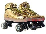 Light Up Pulse Roller Skates Gold
