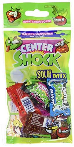 Center Shock Sour Mix, 1 Packung mit 11 extra-sauren Kaugummis, Mit Füllung + ohne Farbstoffe