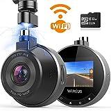 Caméra de Voiture WiFi, WiMiUS Dashcam Voiture FHD 1080P 170° Angle, Enregistreur de Conduite Magnétique avec...