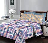Bombay Dyeing 120TC Breeze 100% Cotton One Double(224x254) Size Bedsheet with 2 Pillow Covers