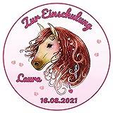 Decoración para tarta con diseño de caballo rosa, 20 cm de diámetro, 769