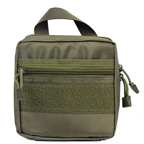 tactique Molle rembourré EMT/premiers secours Medic kit Pochette Organiseur utilitaire Sac pochette pour sac à dos (Vert)