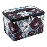 Everything Mary Sewing Kit Organizer Box, Black & Floral - Supplies Storage Basket for Supplies and Accessories - Organization for Thread, Needles, Notions & Scissors - Portable Craft Caddy