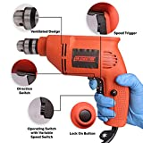Cheston 10mm Powerful Drill Machine Screwdriver Reverse Forward Rotation with Variable Speed for Wall, Metal, Wood Drilling (6104A)