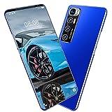 Android 10 Teléfono Móvil Libres, 5600mAh Baterí 10-Core 4GB+64GB, 5G Smartphone 5.5 Pulgadas Triple Cámara 32MP+24MP, Huella Digital/Face ID/GPS,Azul