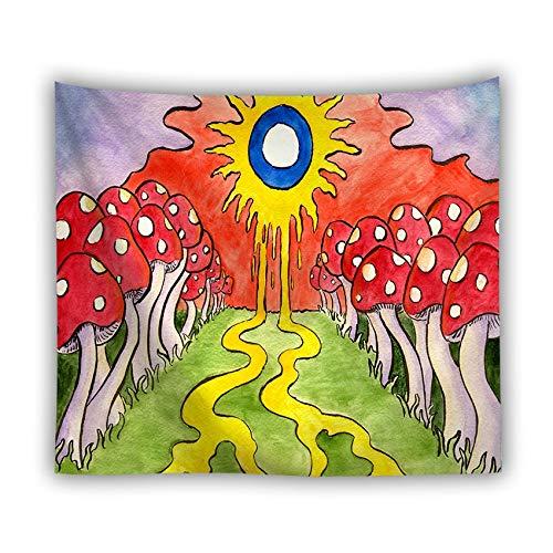 KHKJ Sol y Luna estrellados Tapiz Mandala Colgante de Pared Astrología Tarot Divino Psicodélico Ballena Ola Naturaleza Paisaje Arte Mural A6 95x73cm