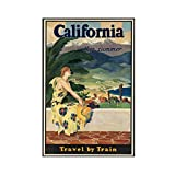 Póster vintage de dominio público vintage de viaje en lienzo para decoración de pared, impresión de cuadros para sala de estar o dormitorio, 30 x 45 cm, estilo Unframe-1