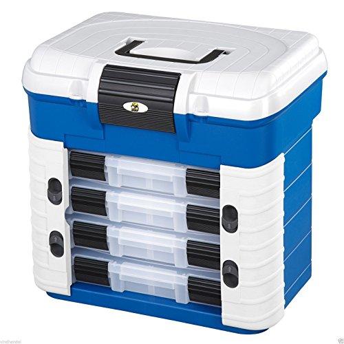 Plastica Panaro - Valigetta Pesca 501 Blu per Trasportare, Proteggere e Organizzare l'Attrezzatura da Pesca, Dimensioni Esterne 420 x 203 x 400 mm