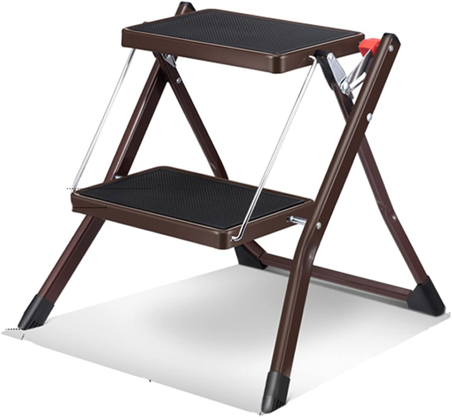 Multipurpose Ladders Step Ladder Aluminum Ladder Folding Chairs 2 Layer Fishing Stool Shelf Dining Chair Low Stool Ladders (color   White, Size   44.5  48.5  49cm)