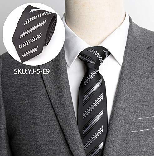 FAHFO Cravate Cravates Formelles Luxueuses De Mariage d'affaires De Cravates pour Hommes 6Cm De Cravates pour La Chemise Habillée des Hommes Accessoires Noeud Papillon, Yj-5-E9