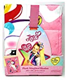 Franco Manufacturing JoJo Siwa Plush Weighted Blanket 4.5 lbs - Super Soft 100% Polyester Outer Cover - 36 in x 48 in - Weighted JoJo Siwa Plush Blanket