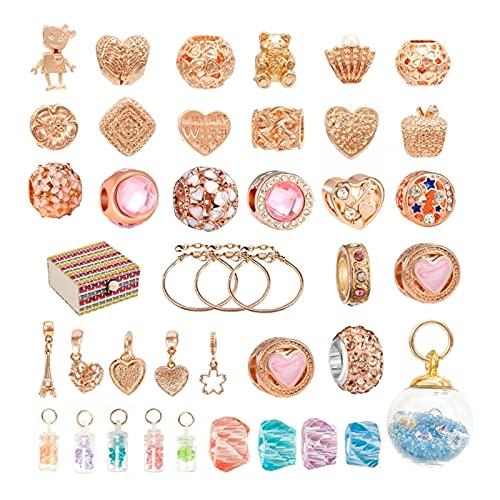 QW817 1 Establecer perlas de metal de agujero grande con amuletos de pulsera Handcrafts Handcraft Beads Granos europeos Separadores sueltos para BRICOLAJE Producir joyería Accesorios de joyería
