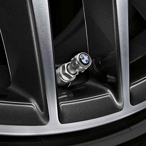 BMW Genuine Roundel Wheel Tire Valve Stem Cap Set
