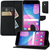 MOELECTRONIX Buch Klapp Tasche Schutz Hülle Wallet Flip Hülle Etui passend für Huawei P9 Lite Mini Dual SIM SLA-L29