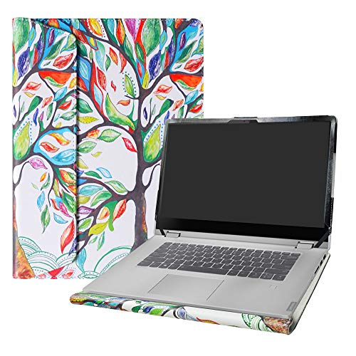 Alapmk Diseñado Especialmente La Funda Protectora de Cuero de PU para 15.6' Lenovo ideapad C340 15 C340-15IWL Ordenador portátil(No Compatible con:ideapad C340 14 Inch),Love Tree