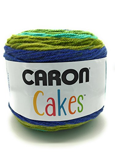 Caron Cakes Self Striping Yarn 1 Ball Blueberry Kiwi 7.1 ounces