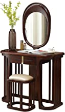 Modern Solid Wood Dressing Table and Stool Combination Rubber Wood Chinese Dressing Table and Dressing Table Bedroom Furni...
