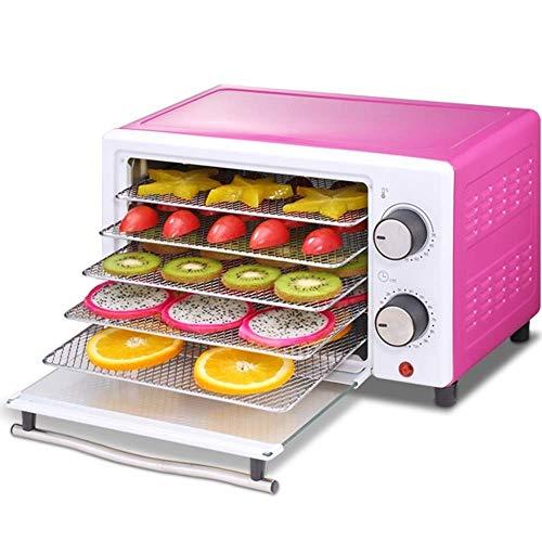 JOLLY Premium-Aufsatz-Dörrgerät 5 Trockenregale Digital-Thermostat Voreingestellte Temperatureinstellungen Luftstrom-Zirkulations-Countdown-Timer inklusive 110 V