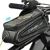 Handy Fahrradtasche Rahmentasche Handytasche Fahrrad Wasserdicht Lenkertasche Oberrohrtasche Tpu Touchscreen Handyhalterung FüR Smartphone Unter 7.0 Zoll Lepeiqi