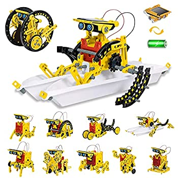 HOMOFY STEM Toys Solar Robot Kit 12 in 1 Solar Powered DIY Learning Science Building Toys Science Kits for Kids 8-12 STEM Educational Toys for 8 9 10 11 12 Year Olds Boys Girls Gifts
