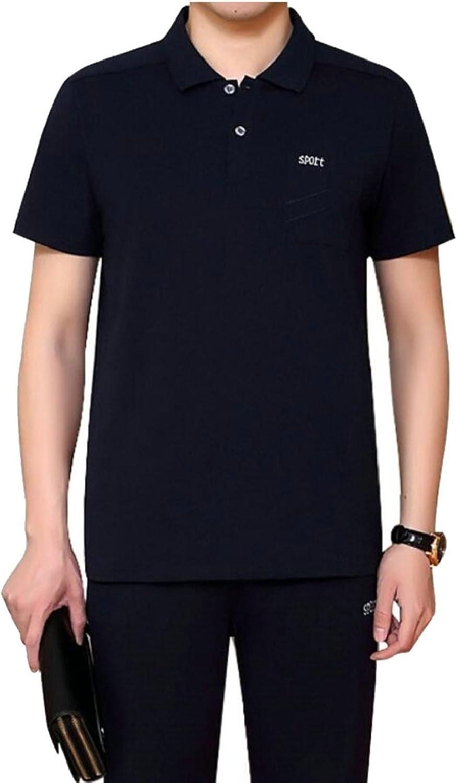 Gocgt Men Short Sleeve Casual T-Shirt Shorts Set