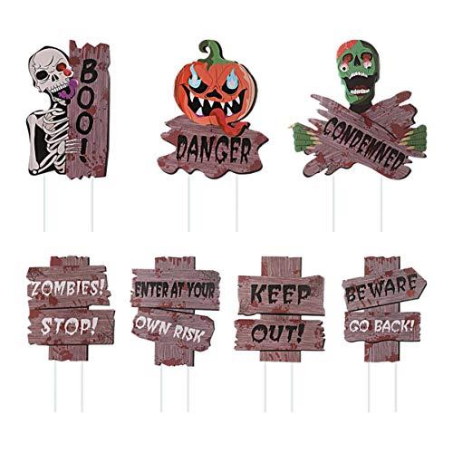 Stobook Halloween-Schild für Hof, 7 Stück