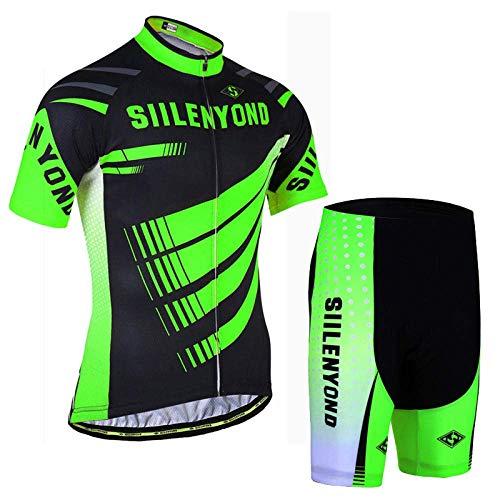 ZMHVOL Maillots de equitación para ciclismo al aire libre, traje de ciclismo de manga corta + pantalones cortos de ciclismo, adecuado para bicicleta de carretera MTB ZDWN (color: 6, talla: XS)