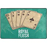 Ruan-Shop Fußmatte Vintage Retro Casino Poster Spielkarten